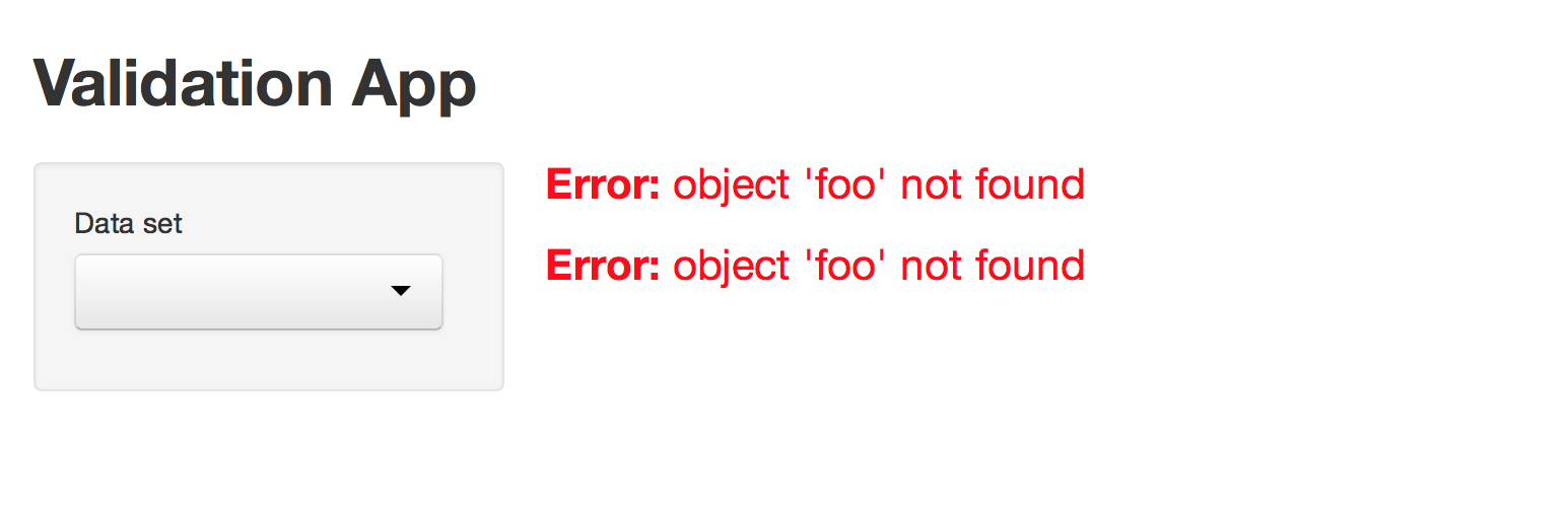 Shiny Write Error Messages For Your Ui With Validate